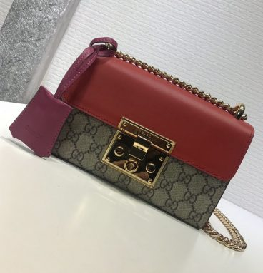 Gucci padlock chain bags