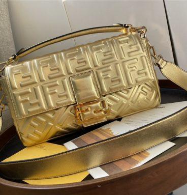 FEND gold baguette bags