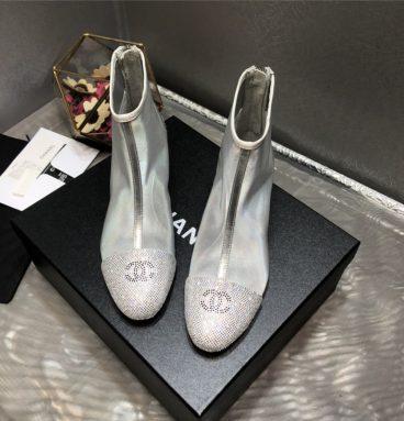 Chanel 2020 transparent boots