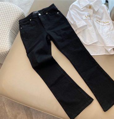 chanel black jeans
