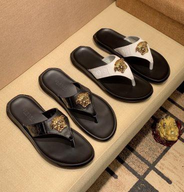mens versace slippers