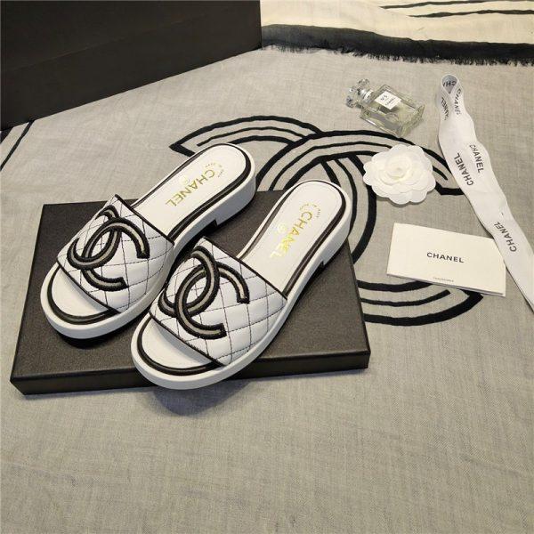Chanel logo slippers sandals