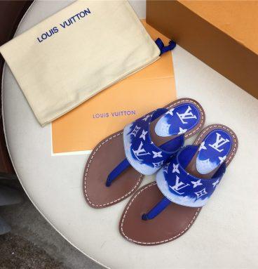 LV Louis Vuitton Flat sandals Blue