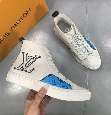 Loui Vuitton Men's tattoo canvas sneakers