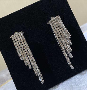 Celine tassel crystal earrings