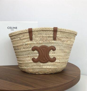 Celine beach woven bag