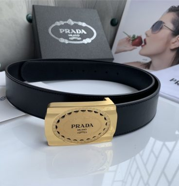 Prada 38mm belt mens gold