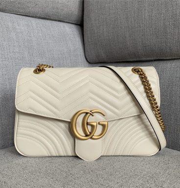 gg marmont large shoulder bag white