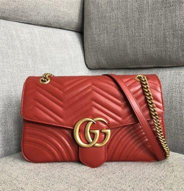 gg marmont large shoulder bag red