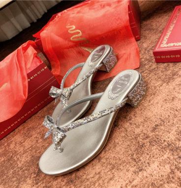 rene caovilla flat sandals