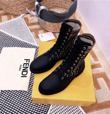 fendi Rockoko FF combat boots replica shoes