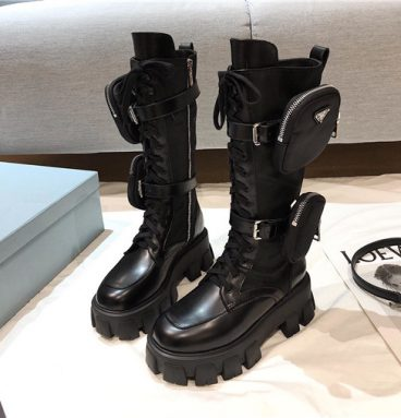 prada boots with pouch