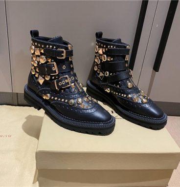 burberry combat boots women