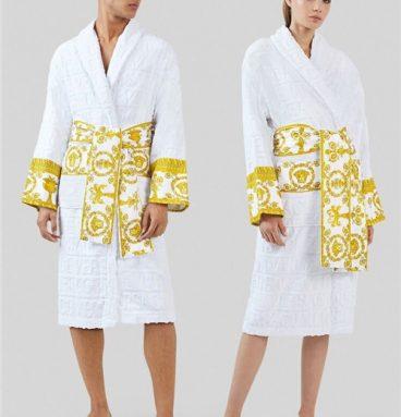 versace bathrobe white