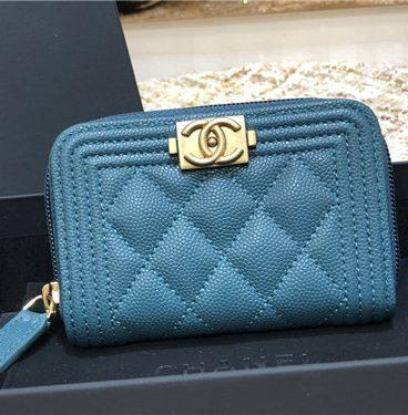 chanel leboy key case card case coin purse