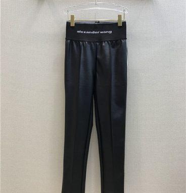 alexander wang leather pants