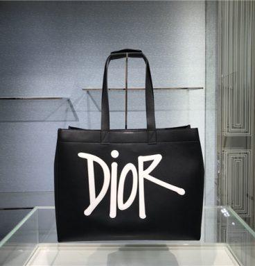 d-dior tote shopping bag black