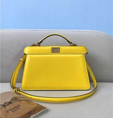 fend peekaboo medium bag yellow