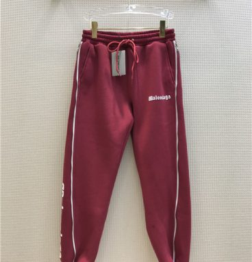 balenciaga fleece pants