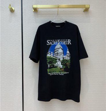 Balenciaga print short sleeve T-shirt