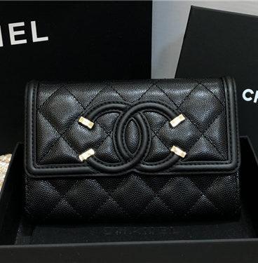 chanel cc filigree wallet