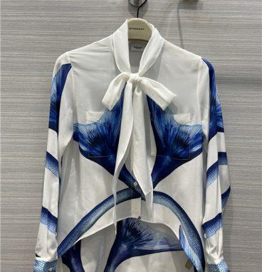 burberry 100% silk shirt