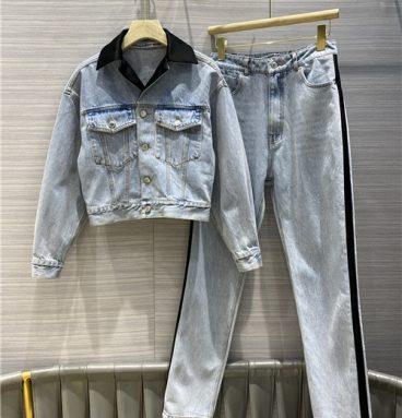 alexander wang jeans denim suit