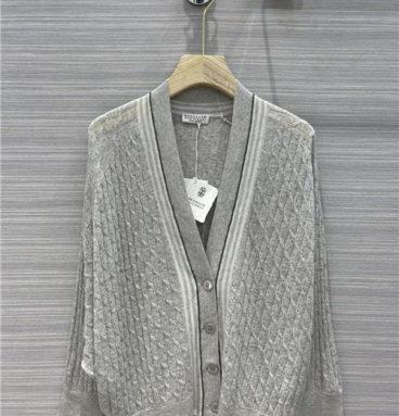 brunello cucinelli knitted cardigan