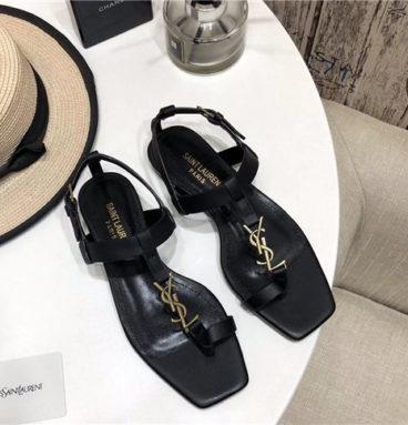 ysl flat sandals