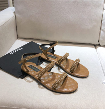 chanel flat sandals