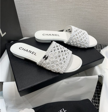 chanel flat sandals slippers