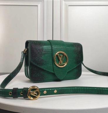 lv pont 9 lizard leather bag