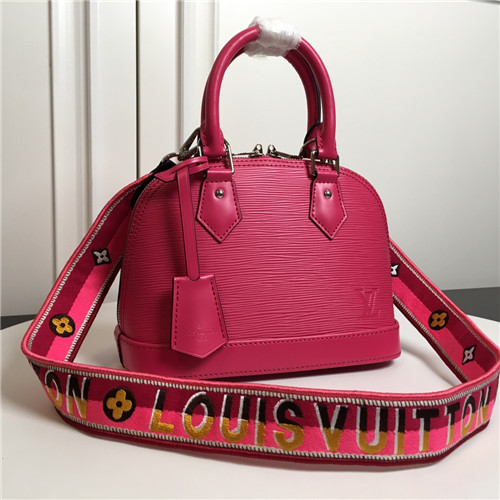 lv alma bb bag pink